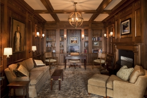 Baker interior wood paneling